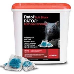 Ратол мягкий брикет 5 кг - средство от крыс и мышей